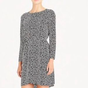 J. Crew Mercantile Black dress with heart print